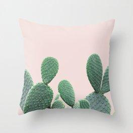 Cactus on Blush Throw Pillow