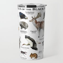 Animals of the Black Forest Travel Mug
