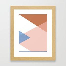 Geometrics - moroccan sky Framed Art Print