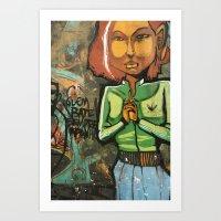 grafitti Art Prints featuring Grafitti by Fabiana Domingues