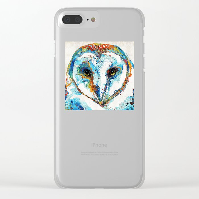 Colorful Barn Owl Art - Birds by Sharon Cummings Clear iPhone Case