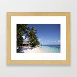 Maldivian Beach, Vilamendhoo, Maldives Framed Art Print