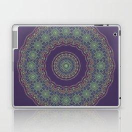 Lotus Mandala in Dark Purple Laptop & iPad Skin