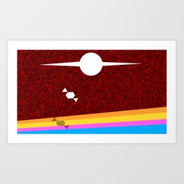 Make for the Horizon Art Print