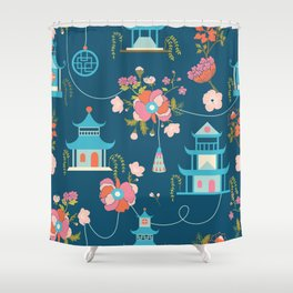Chinoiserie Shower Curtain