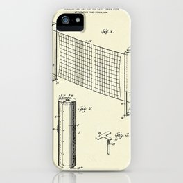 Combined case and post for lawn-tennis nets-1908 iPhone Case