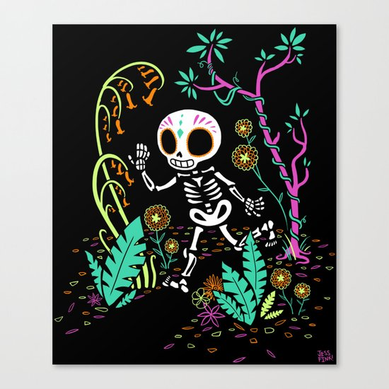 Sugar Skull Jungle Canvas Print