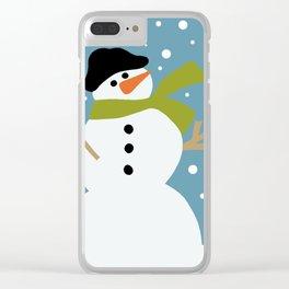 Cute snowman Clear iPhone Case