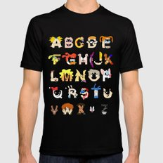 Child of the 90s Alphabet Mens Fitted Tee X-LARGE Black