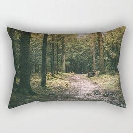 Mysterious Forest Path Rectangular Pillow