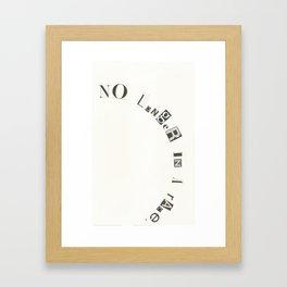 No Longer In A Race Framed Art Print