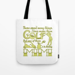 Golf Mimi Tote Bag