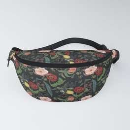 Botanical and Black Cats Fanny Pack