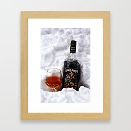 Ice Cold Captain Morgan Rum Framed Art Print