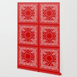 Bandana in Red & White Wallpaper