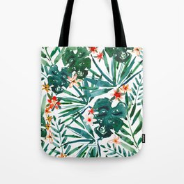 TROP DON'T STOP Tropical Palms and Monstera Tote Bag