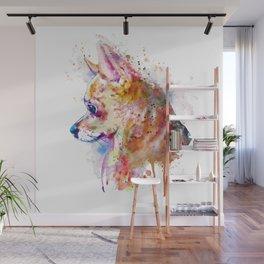 Watercolor Chihuahua Wall Mural