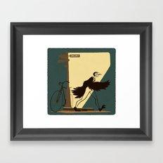 Flying Boy Framed Art Print