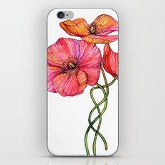 Peach & Pink Poppy Tangle iPhone & iPod Skin