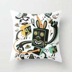 Little Black Magic Rabbit Throw Pillow