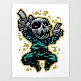 Skull Dancer Art Print