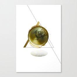 Triangular Entangled Moon White Canvas Print