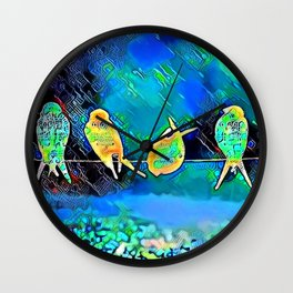 Drying Off Wall Clock