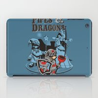 dungeons and dragons iPad Cases featuring PIPES & DRAGONS by Adams Pinto