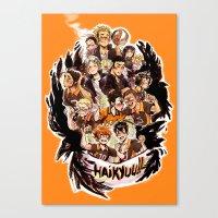 haikyuu Canvas Prints featuring haikyuu!!: crows by Daniela Viçoso