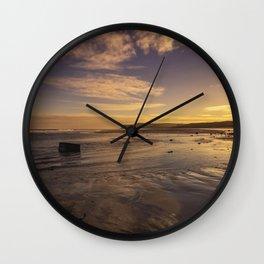 Marske Beach North Yorkshire Wall Clock
