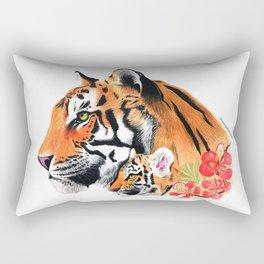 Tiger & Cub Rectangular Pillow