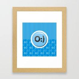 Blue Writer's Mood Framed Art Print