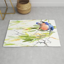 KIngfisher and Weeping Willow Rug