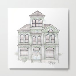 Green Italianate Victorian Metal Print