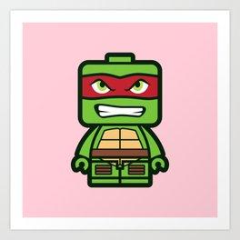 Chibi Raphael Ninja Turtle Art Print