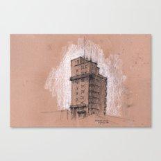 Tagblattturm Stuttgart - chalk Canvas Print