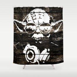 Yoda Graffiti Shower Curtain