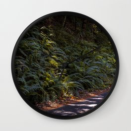 Quiet Through The Forest Wall Clock