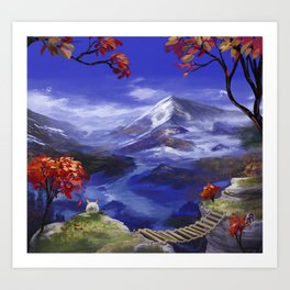 Mountains 're Nice Art Print
