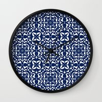 aelwen Wall Clocks featuring Blue by Shelly Bremmer