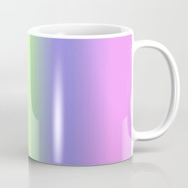 Spring - Pastel - Easter Greens Blues and Purple Vertical Stripes Gradient Coffee Mug