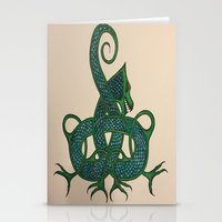 celtic Stationery Cards featuring Celtic Dragon by Erin Malbuisson-Delaney