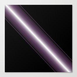 Bold Purple 3 D patten Stripe Design Canvas Print