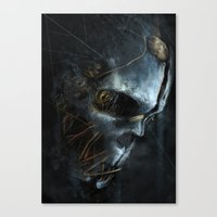 dishonored Canvas Prints featuring Corvo´s Mask  Dishonored by Alba Palacio