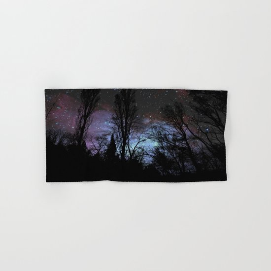 Black Trees Dark Space Hand & Bath Towel