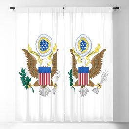 Coat of arms of the USA Blackout Curtain