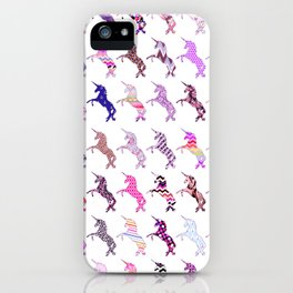 Whimsical pink mystical girly magical unicorn iPhone Case