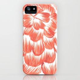 Coral / Orange Dahlia iPhone Case