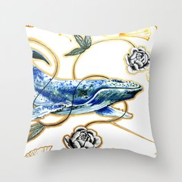 Stitched Together Throw Pillow