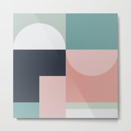 Abstract Geometric 06 Metal Print